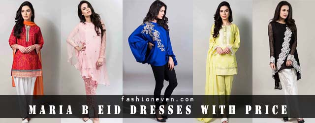 Maria B Eid Dress Designs With Price In 2019