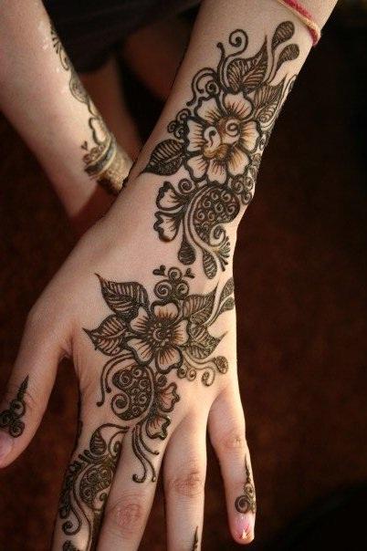 Flower Leaf Arabic Henna Designs Fashioneven