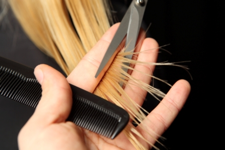 Trim your hair for hair growth