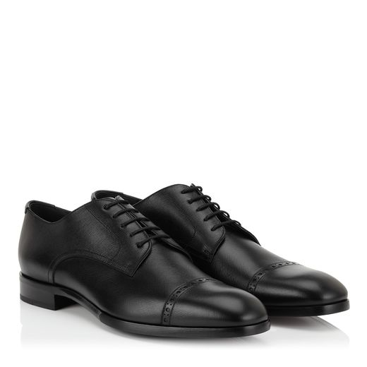 Black Saffiano Lace Up Shoes