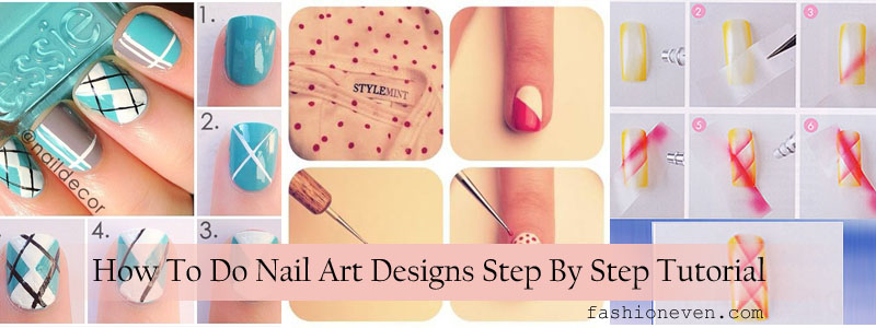 Easy nail art designs 2017 step by step in pakistan fashioneven easy diy nail art tutorials for beginners prinsesfo Image collections
