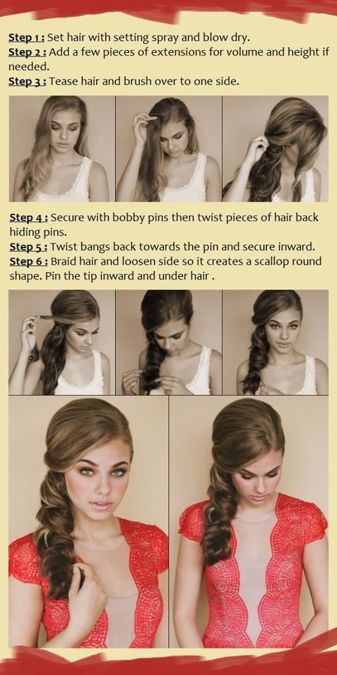 Side swept hairstyle tutorial