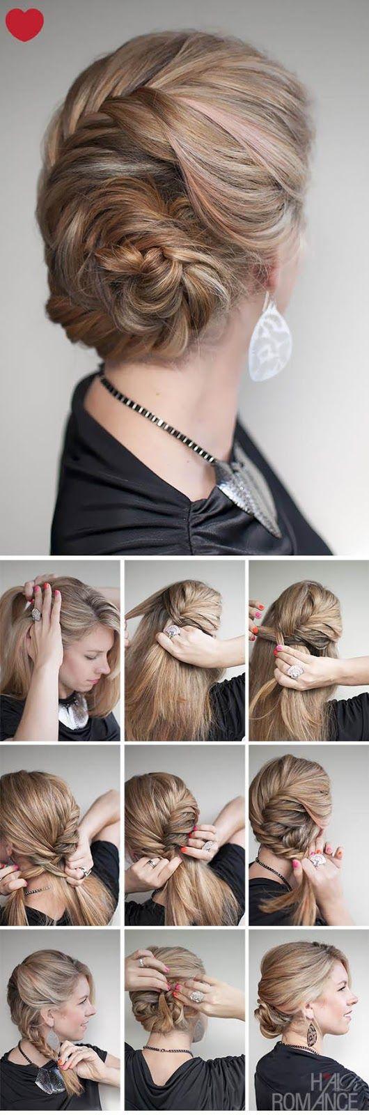 Как сделать прическу на волосы средней длины