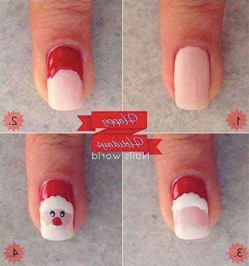 Holiday Nail Art Tutorials: Easy Christmas Nail Designs Tutorials 2019 Step By Step