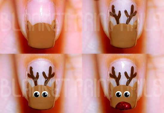 Christmas nail art, best nail art tutorial, Christmas nail art best tutorial
