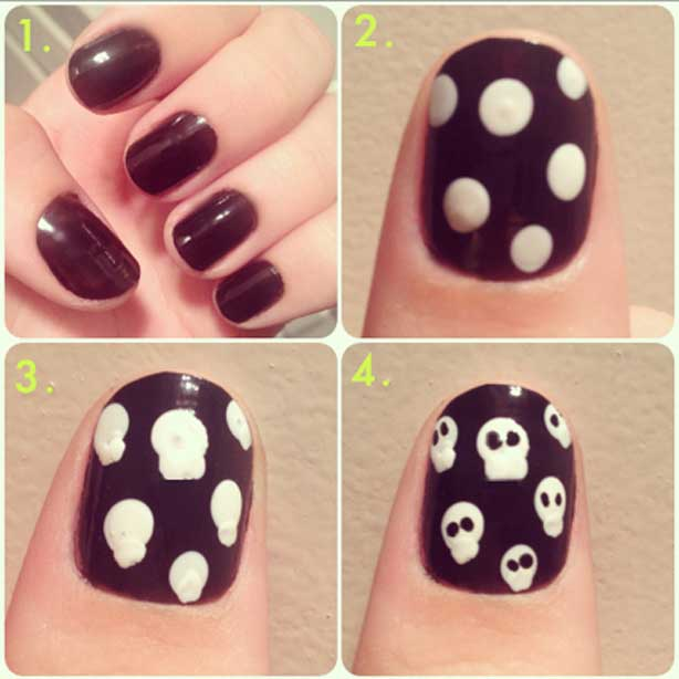 Easy Halloween Nail Art Tutorials 2018 Step By Step Fashioneven