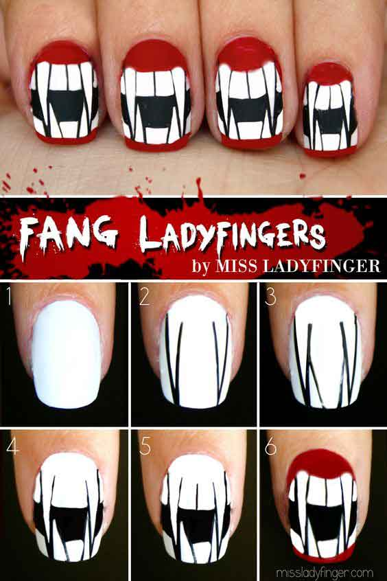 Easy Halloween Nail Art Tutorials 22 Fashioneven