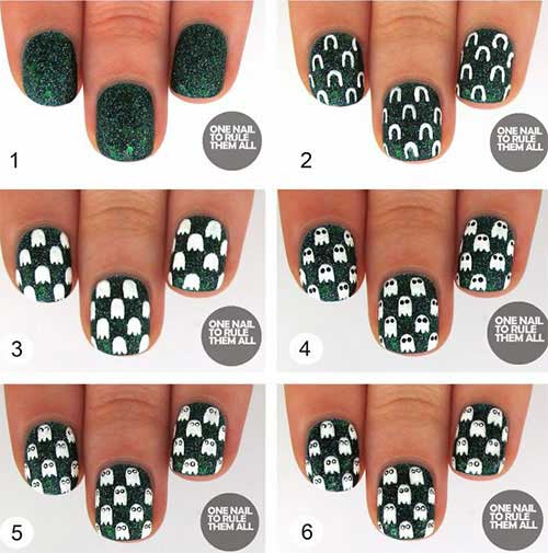 Easy Halloween Nail Art Tutorials 2019 Step By Step ...