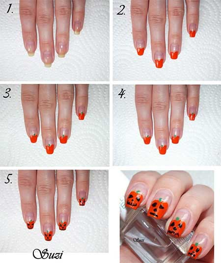 Easy Halloween Nail Art Tutorials 5 Fashioneven