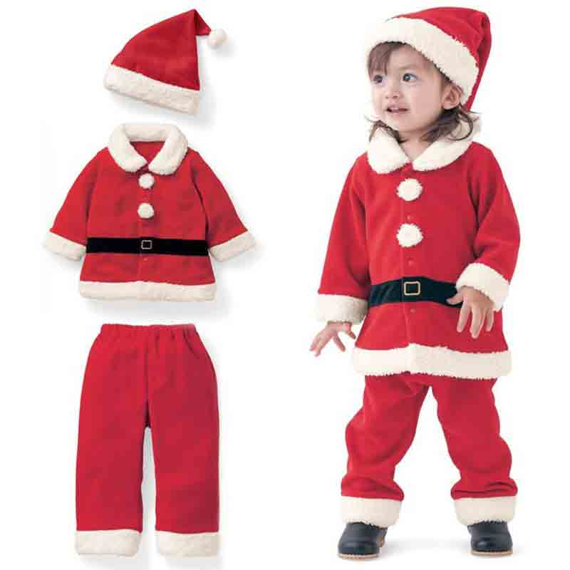 latest red christmas outfit for baby girls