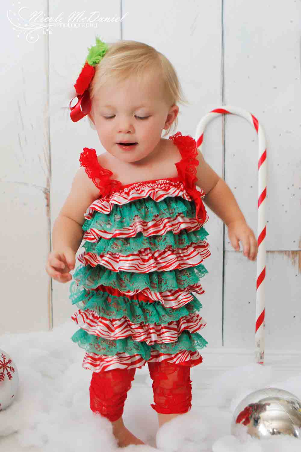 red and green baby girl dress ideas