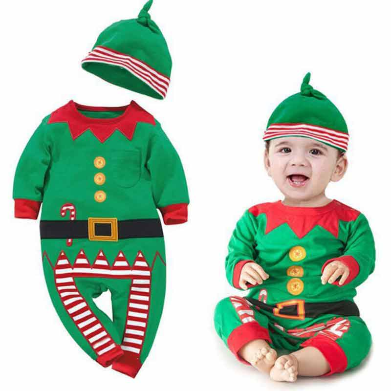 new green christmas outfit for kids