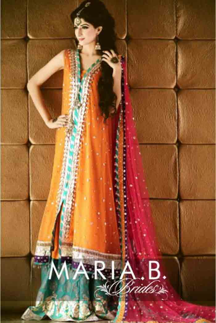 pakistani designer bridal mehndi dresses with prices, mehndi dress for brides