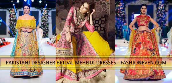 latest styles of pakistani mehndi dress with price for bridals 2018