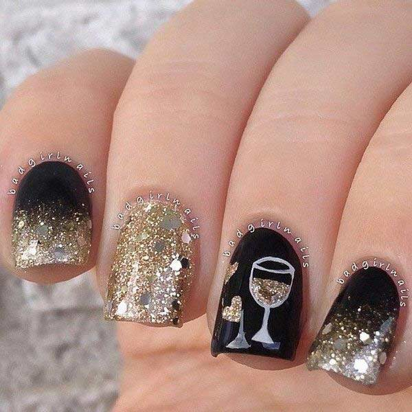 Latest New Year Nail Art Designs 2019 In Pakistan ...