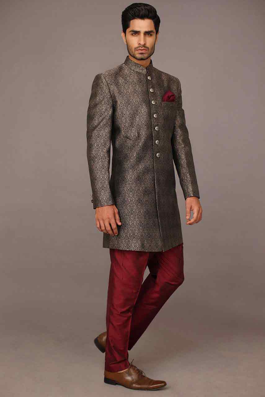 latest pakistani groom wedding sherwani designs 2017 for mehndi