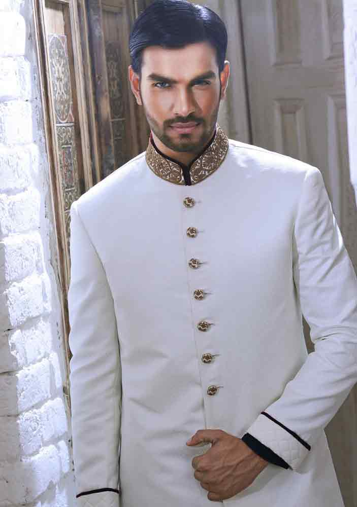 super cool white pakistani groom wedding sherwani designs 2017 for mehndi