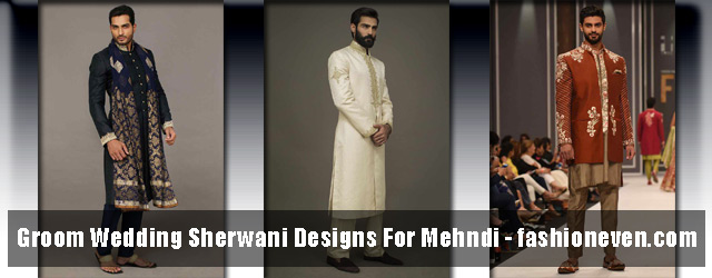 Wedding Sherwani Designs For Mehndi In 2018