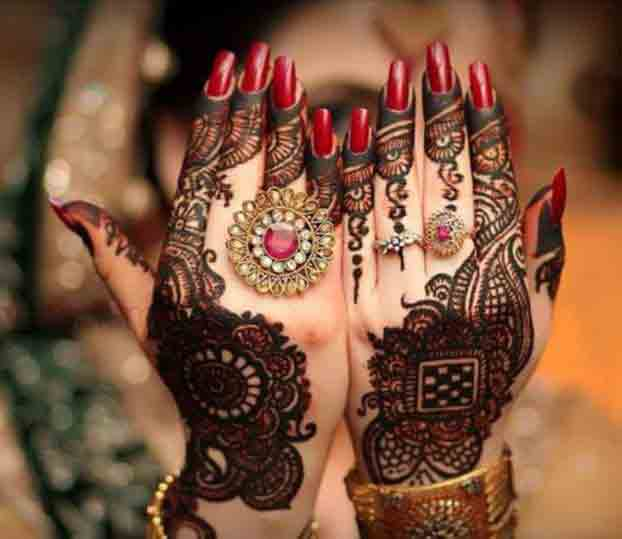 latest bridal mehndi designs 2017 2018 for full hands back