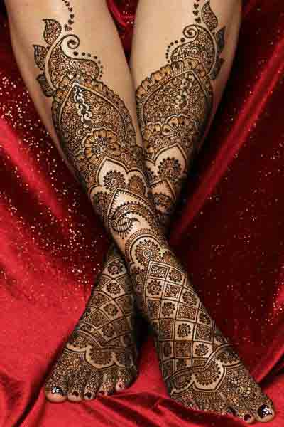 new trendy bridal mehndi designs 2017 2018 for feet and legs trend in india