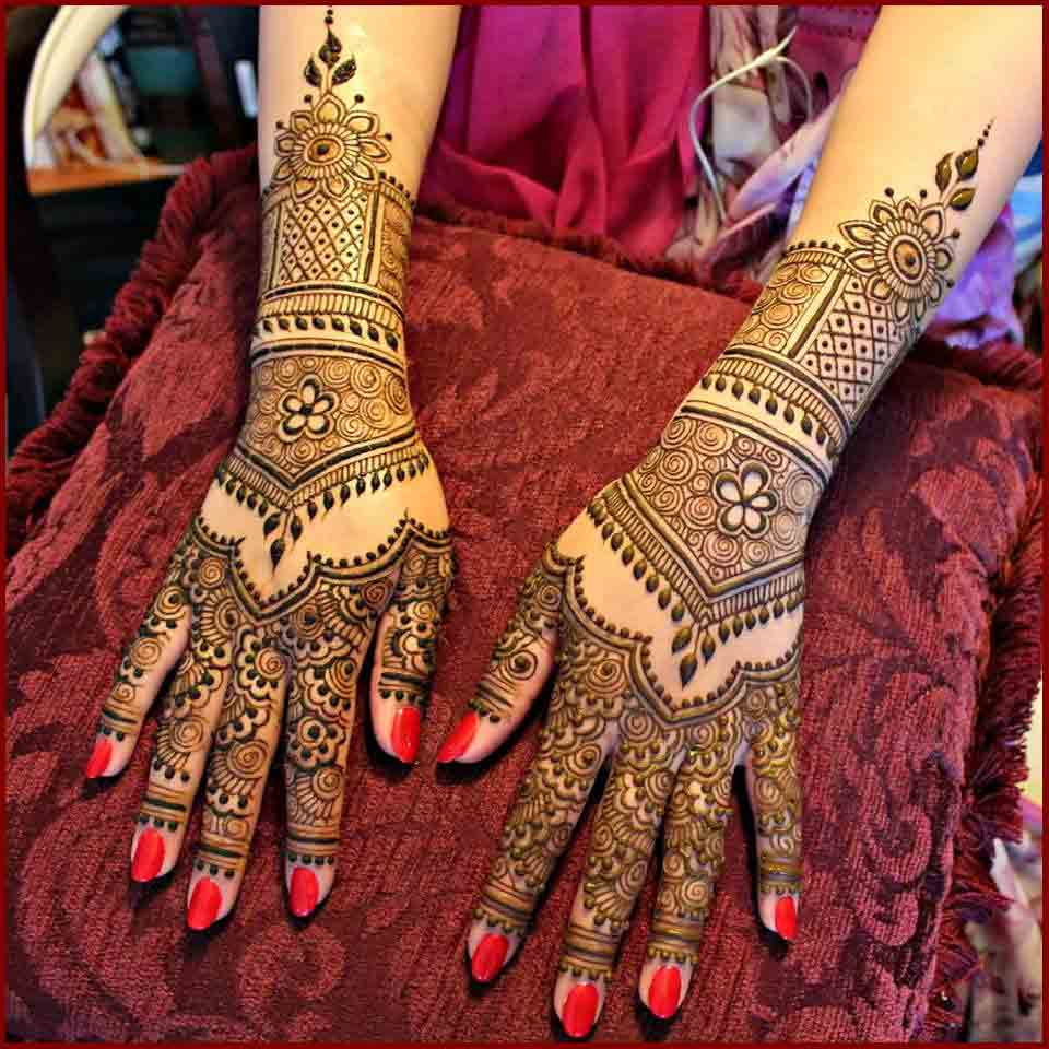new bridal mehndi designs 2017 2018 for full hands back and arms