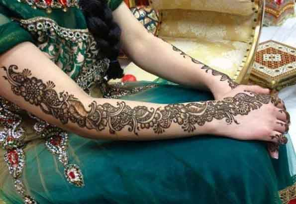 latest bridal mehndi designs 2017 2018 for arms