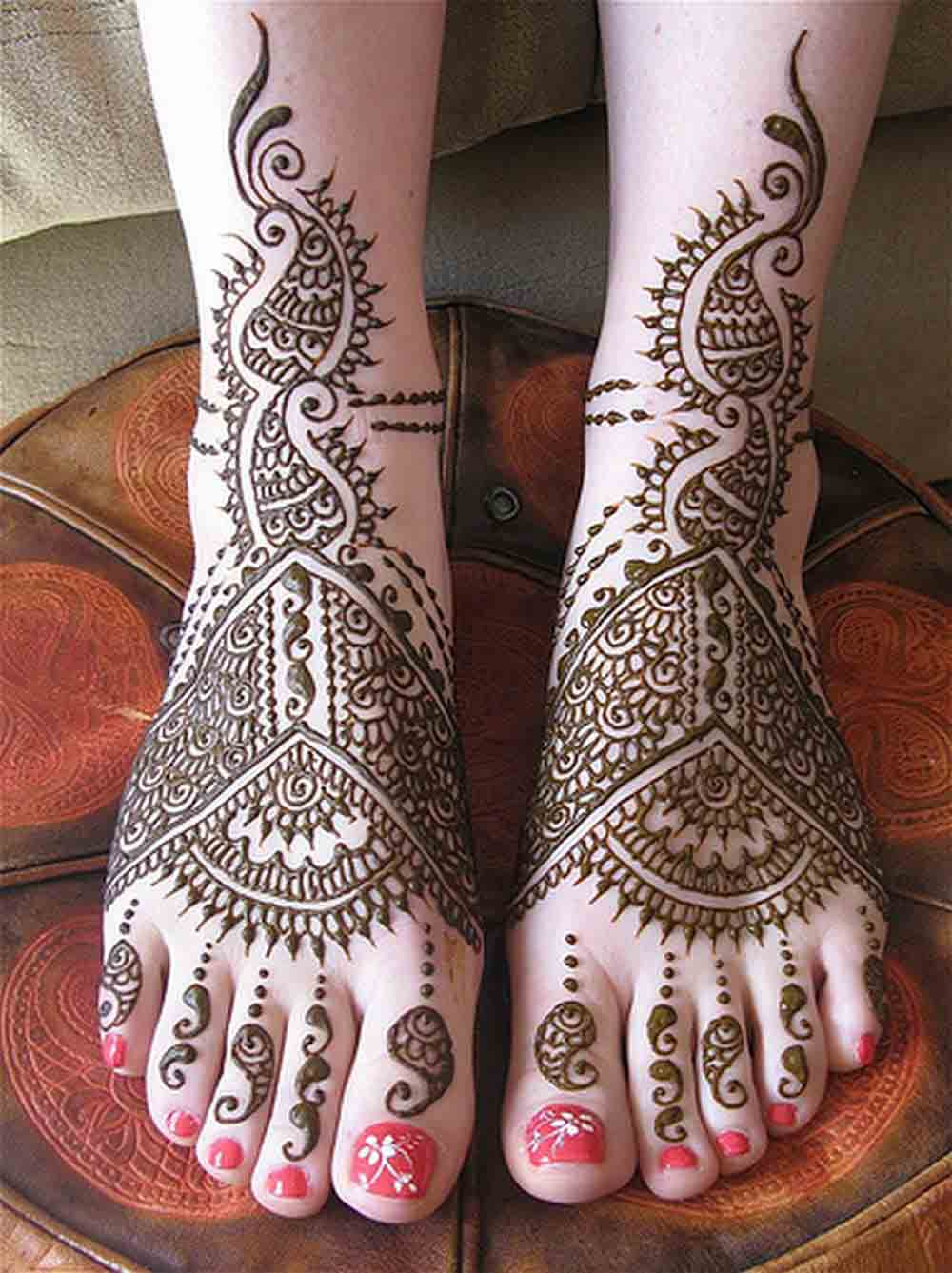 beautiful bridal mehndi designs 2017 2018 for foot
