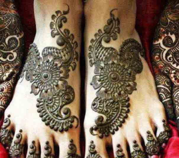 trendy bridal mehndi designs 2017 2018 for feet