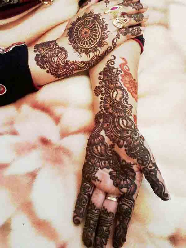 best arabian mehndi style for bridals 2017