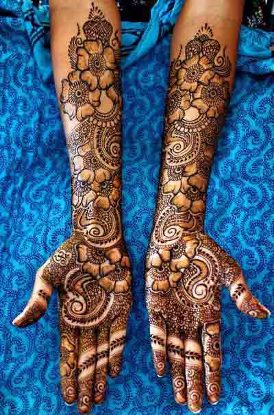 gorgeous bridal mehndi designs 2017 2018 for full hands front and arms