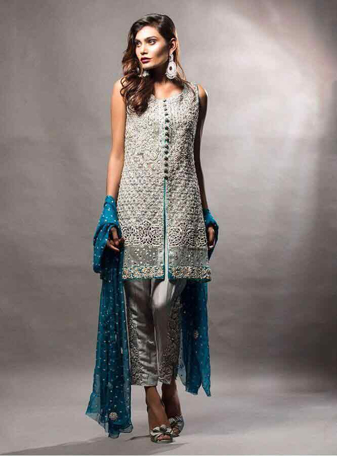 Short Frocks With Sharara 2017 Best Party Wear