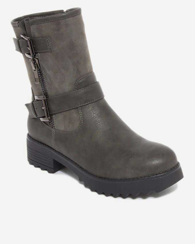 latest dark grey ankle boots for girls 2016