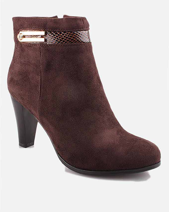 latest maroon ankle boots with heels