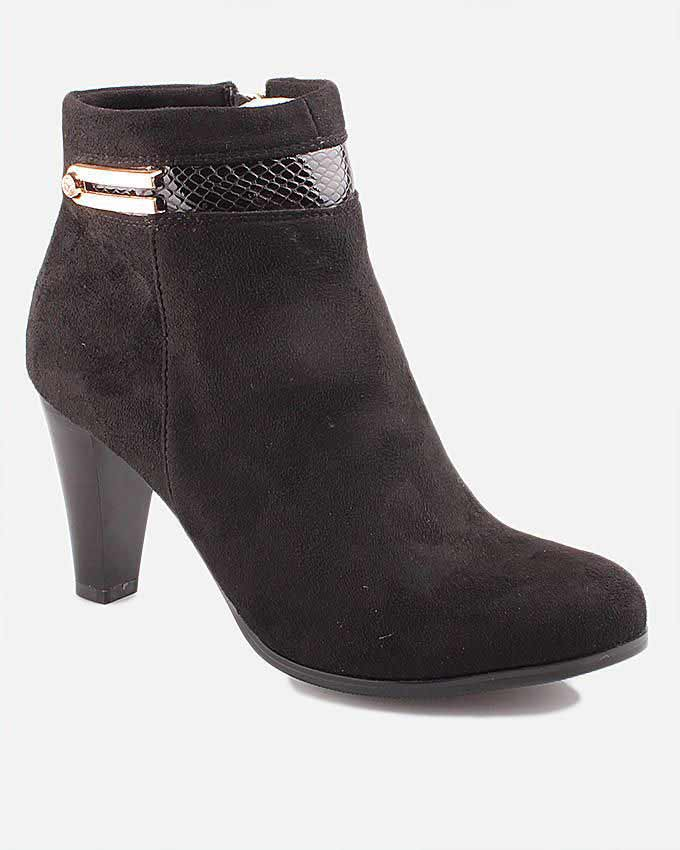 trendy winter ankle boots with heels