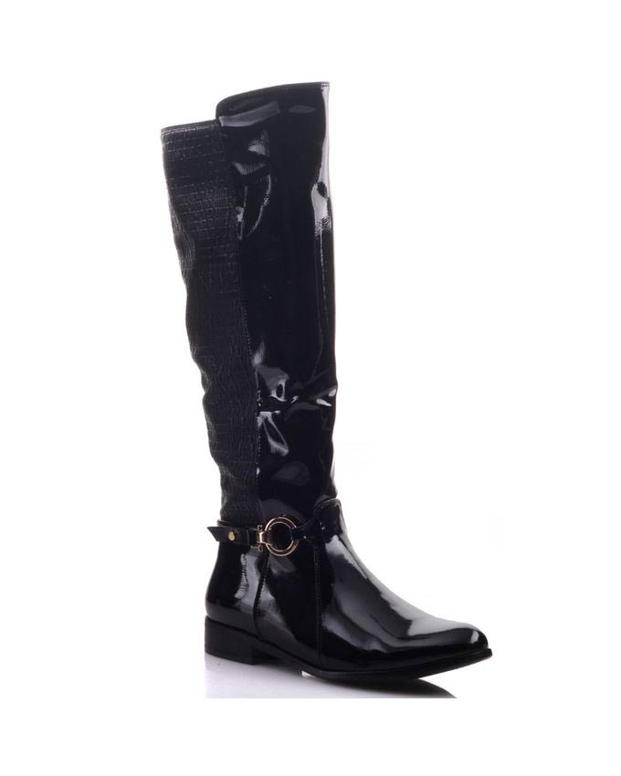 new knee high buckled winter boots for girls
