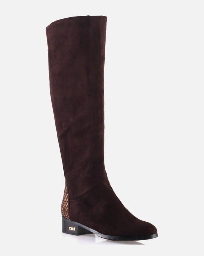 ladies maroon knee high winter boots