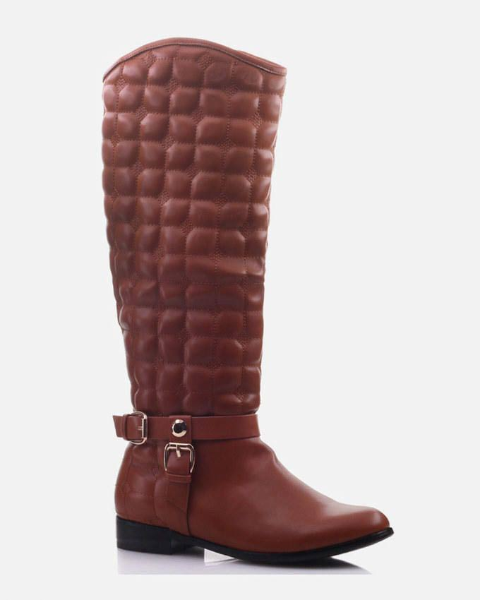 latest buckled knee high winter footwear collection