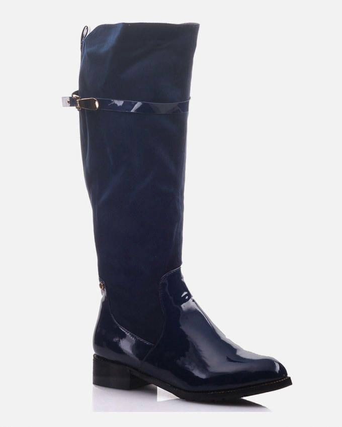 navy blue knee high winter boots 2016