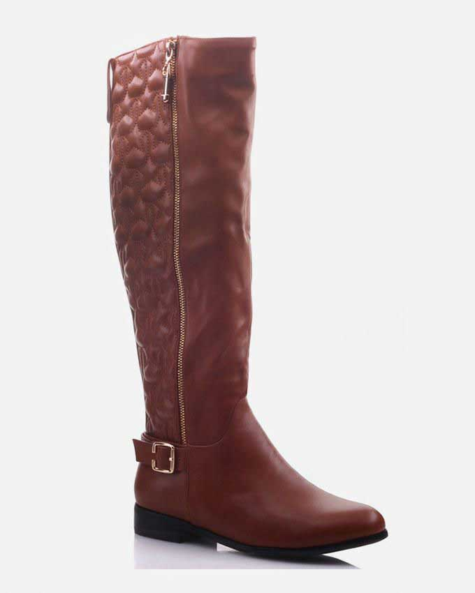 ladies zipped knee high winter boots 2016