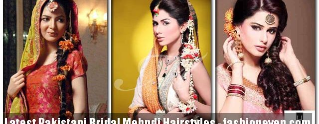 Latest Pakistani Mehndi Hairstyles 2017 For Bridals
