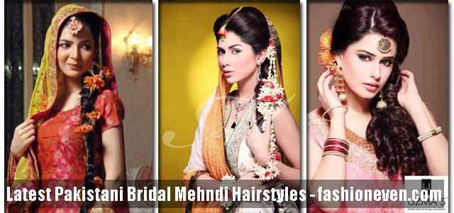 Pakistani Mehndi Hairstyles For Bridals In 2019