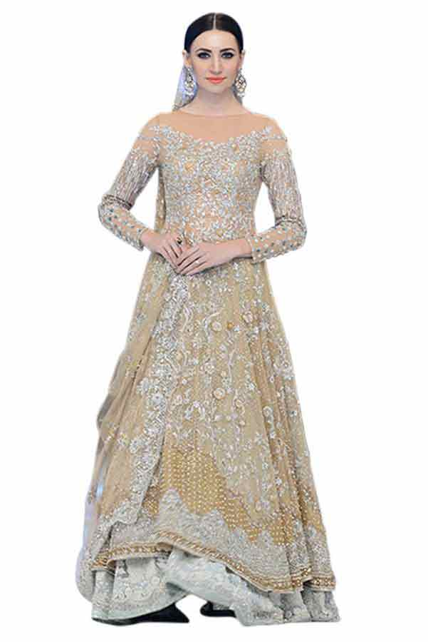 fully embroidered heavy shirt with latest bridal wedding lehenga dress designs 2017