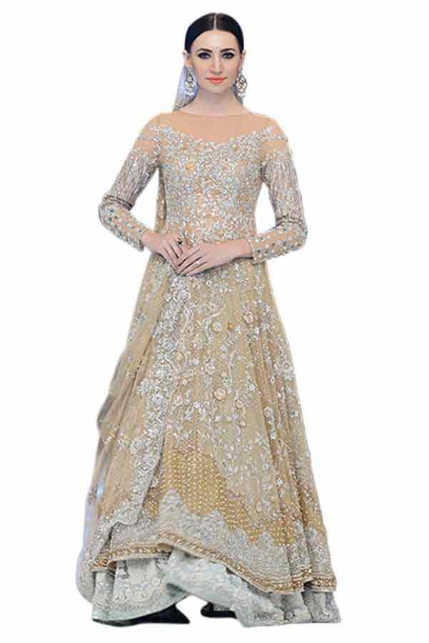 fully embroidered heavy shirt with latest bridal wedding lehenga dress designs 2018