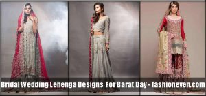 red, grey, off white latest bridal wedding lehenga dress designs 2018