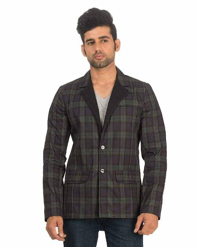 new black checks winter casual coats for men in Pakistan 2018
