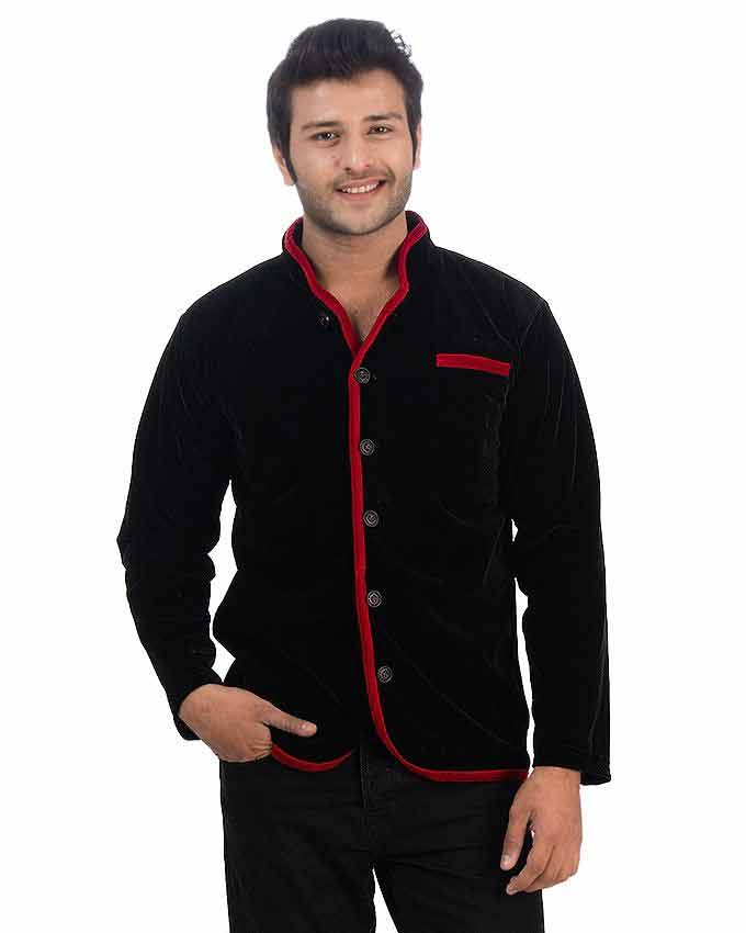 new red and black velvet winter casual coats for men in Pakistan 2018