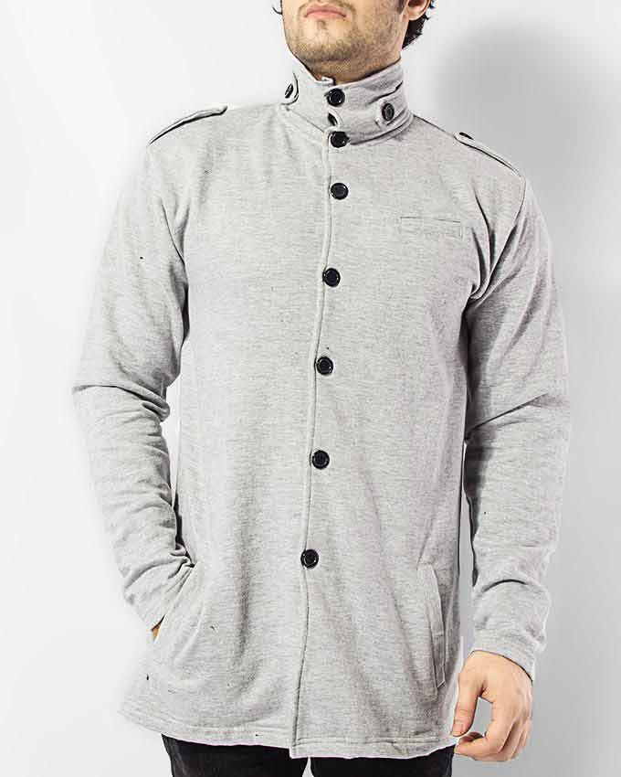 stylish light gray buttoned winter casual coats for men in Pakistan 2018