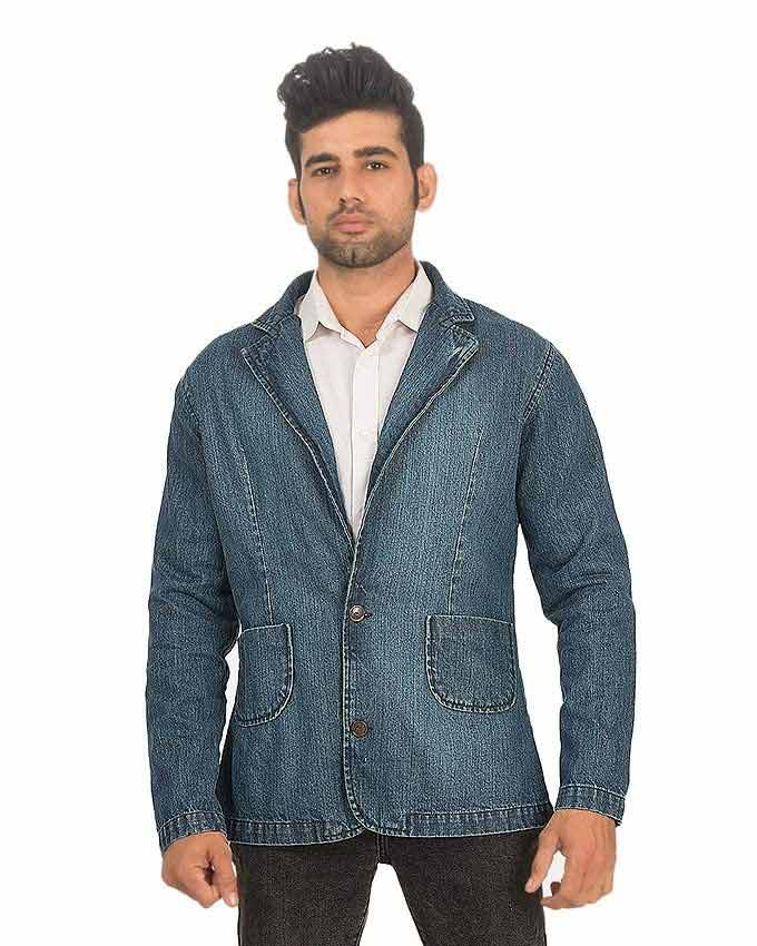 best blue denim winter casual coats for men in Pakistan 2018