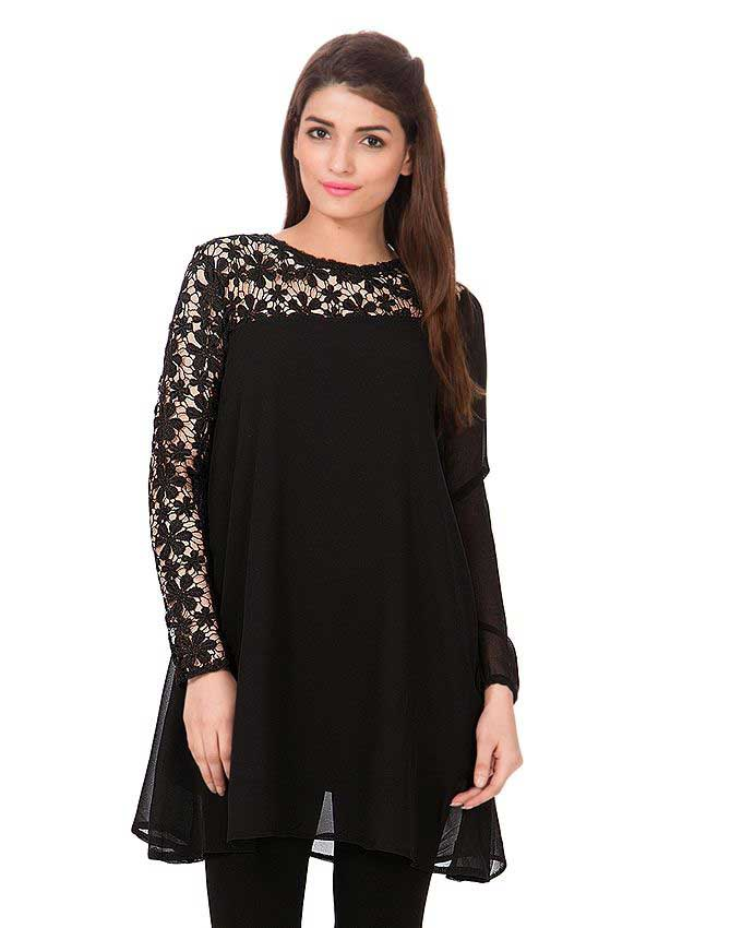 latest black net shirt for women 2018 by crossroads