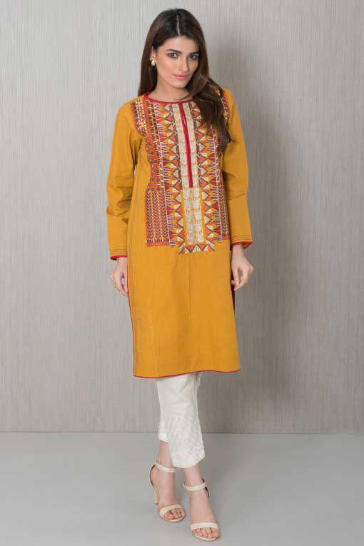 latest yellow kurta winter 2018 collection